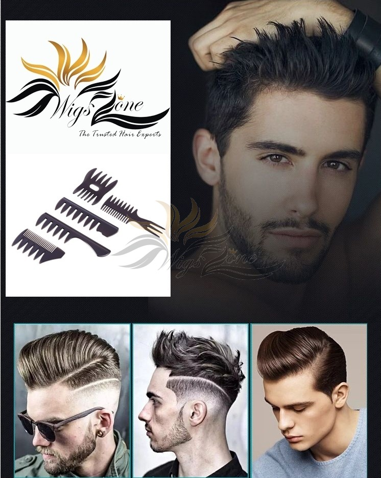 Combs For Making Out Fashion Hairstyles On Man's Toupees, Hair Replacement Hair Hairpieces Free Gifts For Toupee Orders [FG01]