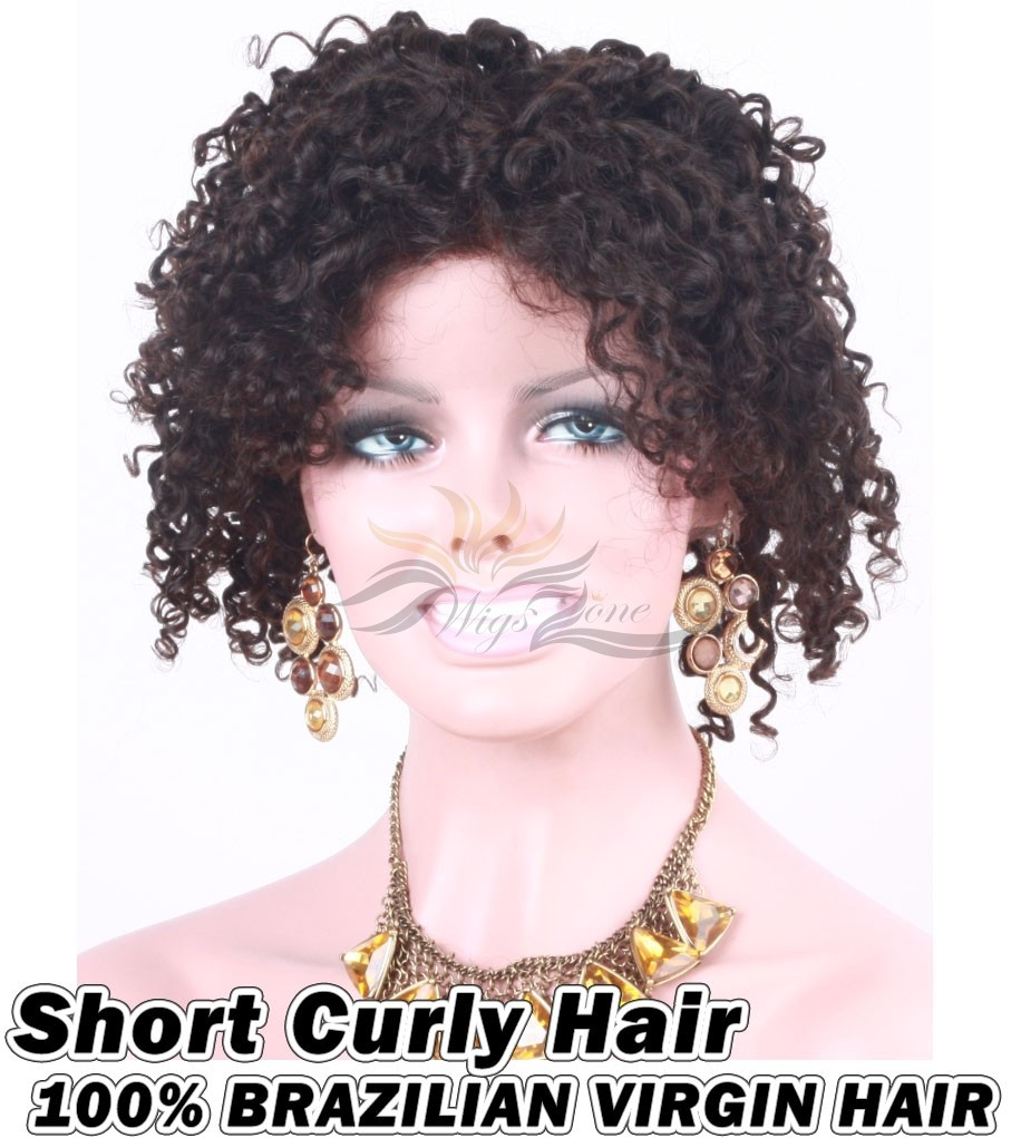 Short Curly Brazilian Virgin Human Hair HD Lace 360 Lace Wig 150% Density Pre-Plucked Hairline
