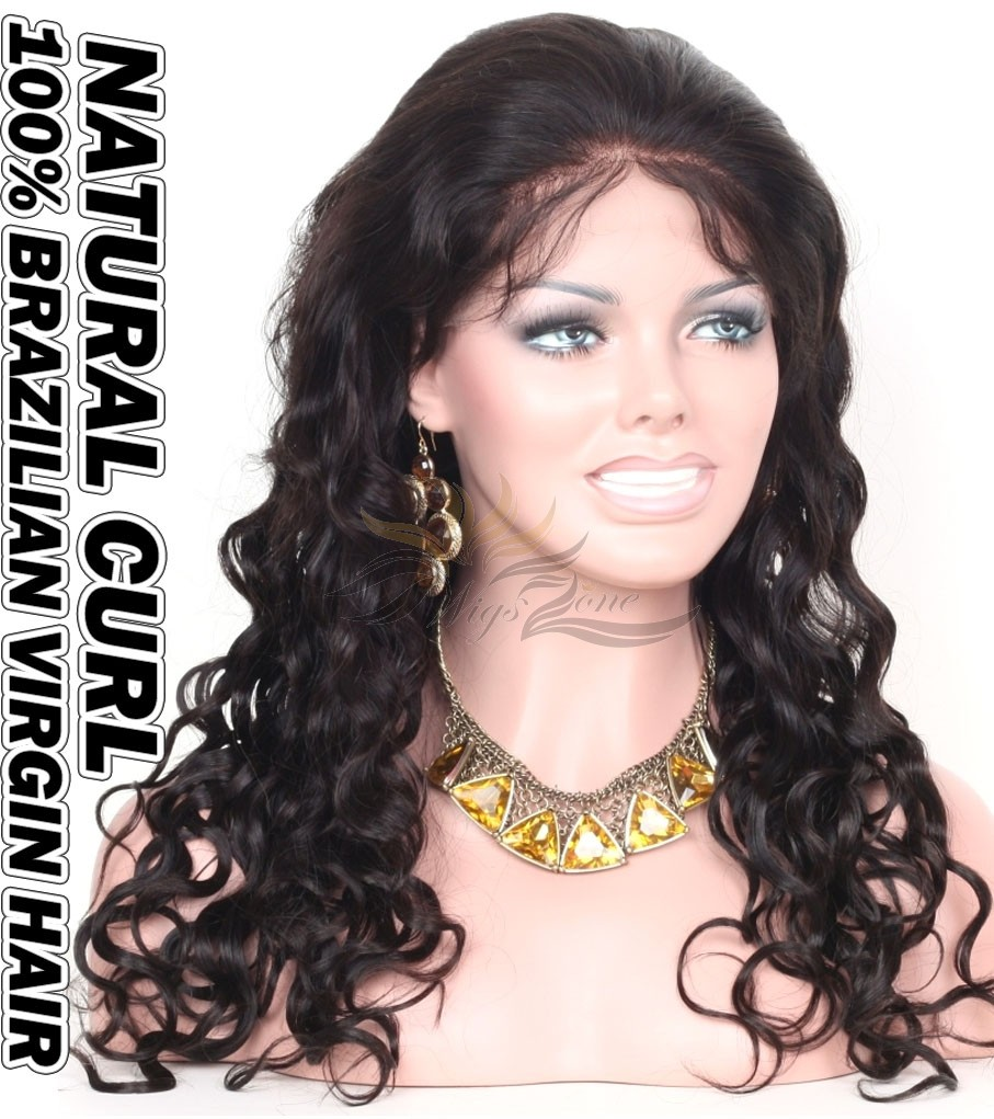Natural Curl Brazilian Virgin Human Hair HD Lace 360 Lace Wig 150% Density Pre-Plucked Hairline