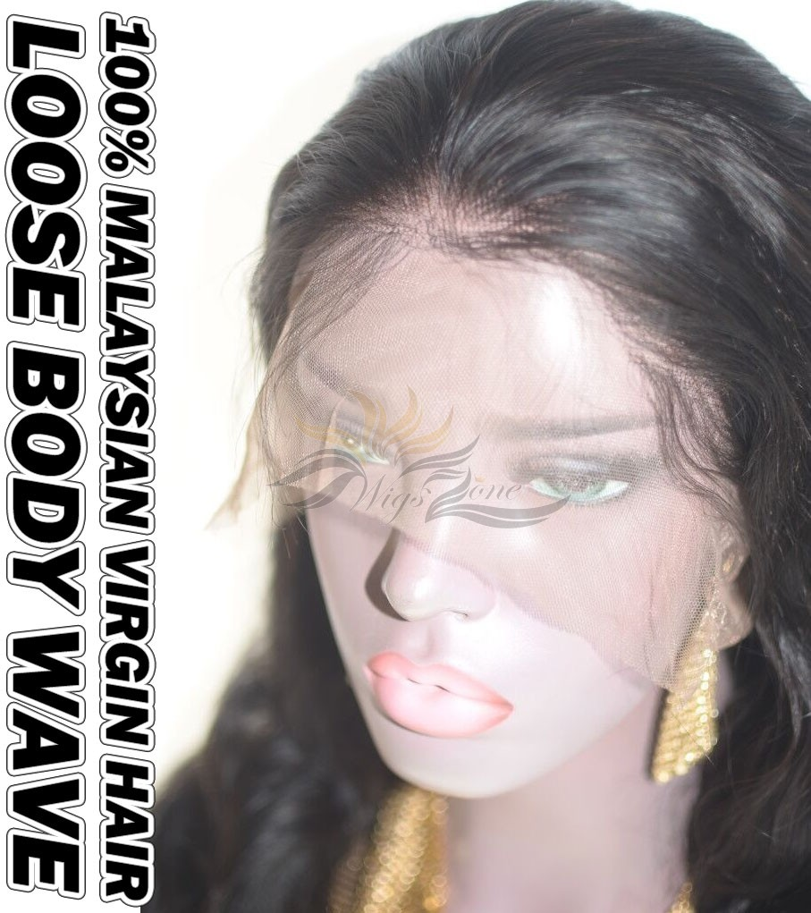 Loose Body Wave Malaysian Virgin Human Hair HD Lace 360 Lace Wig 150% Density Pre-Plucked Hairline