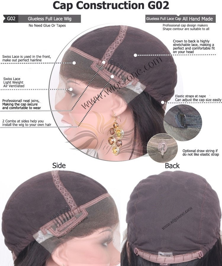 CUSTOM MADE GLUELESS FULL LACE WIG EXACTLY AS YOU WANT [G02]