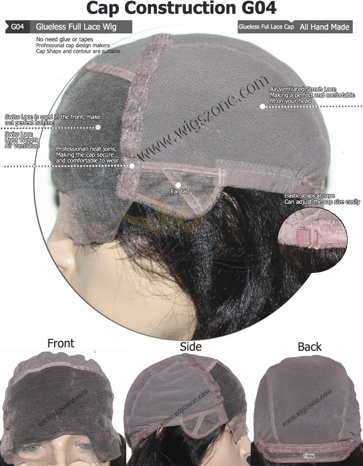 CUSTOM MADE GLUELESS FULL LACE WIG EXACTLY AS YOU WANT [G04]