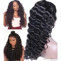 Deep Body Wave Brazilian Virgin Hair U Part Wigs Human Hair U-PART Wigs Clips In Glueless Wigs Pre Plucked African American Wigs For Black Women No Glue No Sew In [UWDBW]