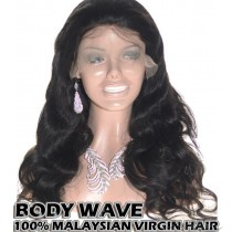 100% Top Grade Quality Malaysian Virgin Hair 360 Lace Wigs Body Wave Intact Hair Cuticles Aligned [M360BW]