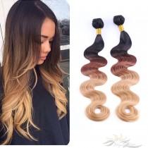 Ombre 1B/4/27# Body Wave Ultima Fiber Hair Weft   [SUW1B427BW]