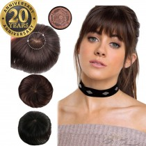 20th Anniversary Celebration Human Virgin Hair Silk Base Topper Hidden Knots Hairpieces [HP37]