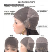 Custom Made Full Lace Wig Full Swiss Lace Or French Lace Cap With Stretch Lace At Crown [1F]