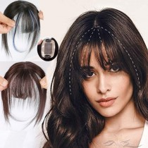 3D Air Human Virgin Hair Bangs Fringe Hair Topper Fashion Clip-in Hair Extension [FB04]