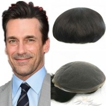 Full Lace Toupee for Men Super Fine Swiss Lace Hair Replacement System Top Quality Human Hair Hairpieces [T28]