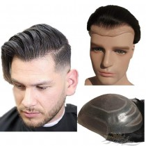 Thin Skin Lace Toupee for Men Hair Replacement System Top Quality Human Hair Hairpieces [T29]