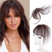 3D Air Human Hair Bangs Fringe Hair Topper Fashion Clip-in Hair Extension [FB03]