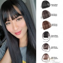 Natural Real Human Hair Flat Bangs Fringe Hand Tied MiNi Hair Bangs Fashion Clip-in Hair Extension [FB02]