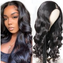 Loose Wave Brazilian Virgin Hair U Part Wigs Human Hair U-PART Wigs Clips In Glueless Wigs Pre Plucked African American Wigs For Black Women No Glue No Sew In [UWLW]