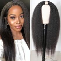 Kinky Straight Body Curl Brazilian Virgin Hair U Part Wigs Human Hair U-PART Wigs Clips In Glueless Wigs Pre Plucked African American Wigs For Black Women No Glue No Sew In [UWKS]