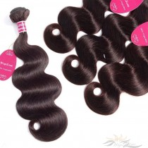 Color #2 Body Wave Brazilian Virgin Hair Wefts 4pcs/Lot Human Virgin Hair Weaves 4 Bundles [BRW#2BW4]