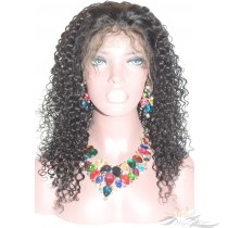 Kinky Curl Fake Scalp Lace Wig Undectable Lace Pre-Plucked Hairline No Cornrows or Wig Cap Needed [FSKC]