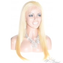 Blonde Color Straight Russian Virgin Hair Lace Wig Pre-Plucked Hairline HD Invisible Skin Melting Lace Wig [RU613ST2]