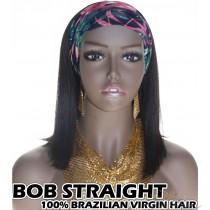 100% Top Grade Brazilian Cuticle Aligned Human Virgin Hair BOB Headband Wig Scarf Wig [BHBS]