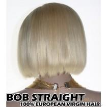100% Top Grade European Virgin Hair Blonde Color #613 BOB Straight Headband Wig Scarf Wig [EH613BS]