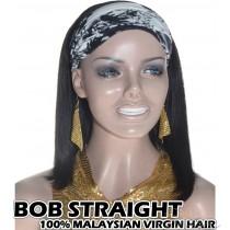 100% Top Grade Malaysian Cuticle Aligned Human Virgin Hair BOB Headband Wig Scarf Wig[MHBS]