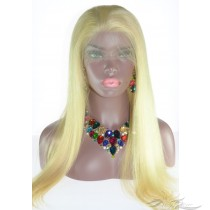 Color #613 Silky Straight Russian Virgin Hair Lace Wig Pre-Plucked Hairline HD Invisible Skin Melting Lace Wig [RU613NS]
