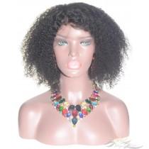 Afro Curl SILK TOP Lace Front Wig Brazilian Virgin Hair Hidden Knots [BRSHAC]