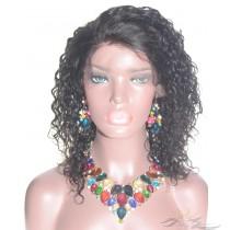 Soft Curl SILK TOP Lace Front Wig Brazilian Virgin Hair Hidden Knots [BRSHSC]