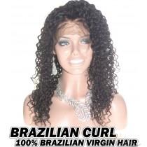 Brazilian Curl Brazilian Virgin Human Hair HD Lace 360 Lace Wig 150% Density Pre-Plucked Hairline