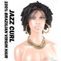 Jazz Curl Brazilian Virgin Human Hair HD Lace 360 Lace Wig 150% Density Pre-Plucked Hairline