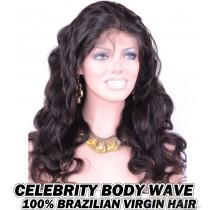 Celebrity Body Wave Brazilian Virgin Human Hair HD Lace 360 Lace Wig 150% Density Pre-Plucked Hairline