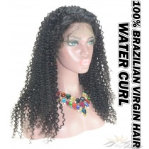 Water Curl Brazilian Virgin Human Hair HD Lace 360 Lace Wig 150% Density Pre-Plucked Hairline