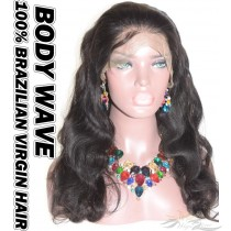 Body Wave Brazilian Virgin Human Hair HD Lace 360 Lace Wig 150% Density Pre-Plucked Hairline