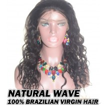 Natural Wave Brazilian Virgin Human Hair HD Lace 360 Lace Wig 150% Density Pre-Plucked Hairline
