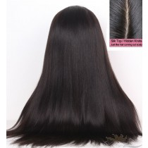 Light Yaki SILK TOP Lace Front Wig Brazilian Virgin Hair Hidden Knots [BRSHLY]