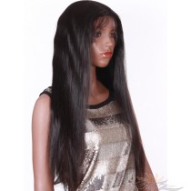 Synthetic Straight Lace Front Wig Futura Fiber Looks & Feels Like Human Hair Infused With Protein And Collagen For Softness & Longevity [SHNS1]