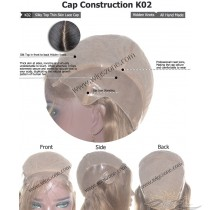 CUSTOM MADE SILK TOP THIN SKIN LACE WIG EXACTLY AS YOU WANT [K02]
