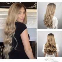 LONG BODY CURLY BLONDE SYNTHETIC HAIR FULL WEAVE CAP WIG [SW22]