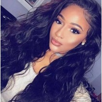 NATURAL WAVE BLACK SYNTHETIC HAIR FULL WEAVE CAP WIG [SW24]