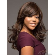 MEDIUM BODY CURL MIXED COLOR SYNTHETIC HAIR FULL WEAVE CAP WIG [SW28]