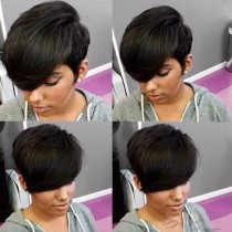 FASHION SHORT STYLE SYNTHETIC HAIR FULL WEAVE CAP WIG [SW32]