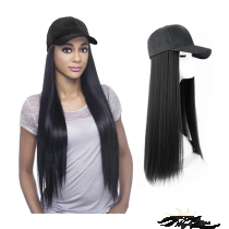 LONG STYLE STRAIGHT SYNTHETIC HAIR HAT WIG [HWST]
