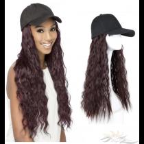 LONG WAVY SYNTHETIC HAIR HAT WIG [HWWA]