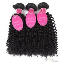 Deep Curly Brazilian Virgin Hair Wefts 3pcs/Lot Human Virgin Hair Weaves 3 Bundles [BRWDC3]