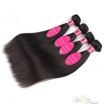 Silky Straight Brazilian Virgin Hair Wefts 4pcs/Lot Human Virgin Hair Weaves 4 Bundles [BRWST4]
