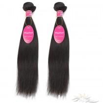 Silky Straight Brazilian Virgin Hair Wefts 2pcs/Lot Human Virgin Hair Weaves 2 Bundles [BRWST2]