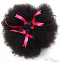 Afro Kinky Curl Brazilian Virgin Hair Wefts 3pcs/Lot Human Virgin Hair Weaves 3 Bundles [BRWAKC3]
