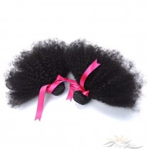 Afro Kinky Curl Brazilian Virgin Hair Wefts 2pcs/Lot Human Virgin Hair Weaves 2 Bundles [BRWAKC2]