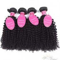 Deep Curly Brazilian Virgin Hair Wefts 4pcs/Lot Human Virgin Hair Weaves 4 Bundles [BRWDC4]