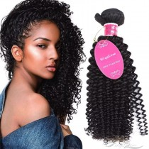 Deep Curly Brazilian Virgin Hair Wefts Human Virgin Hair Weaves  [BRWDC]