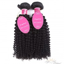 Deep Curly Brazilian Virgin Hair Wefts 2pcs/Lot Human Virgin Hair Weaves 2 Bundles [BRWDC2]